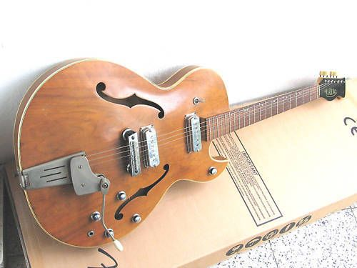 60's Hopf ES Semi Thinline Made in Germany. Gorgeous looking thing.