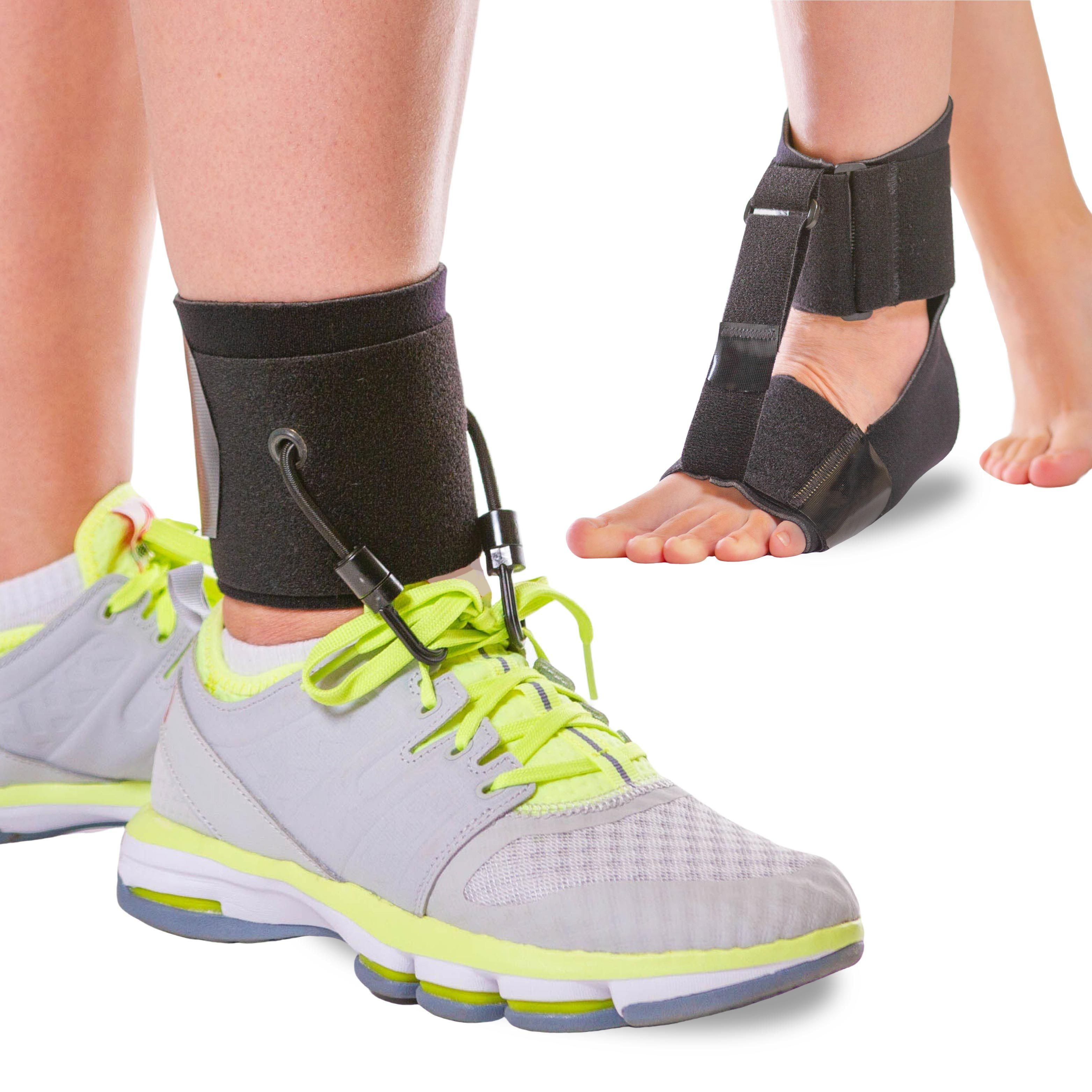 28+ Soft AFO Drop Foot Brace   Shoe or Barefoot Dorsiflexion Assist for Neuropathy or Charcot Marie Tooth Treatment   S/M