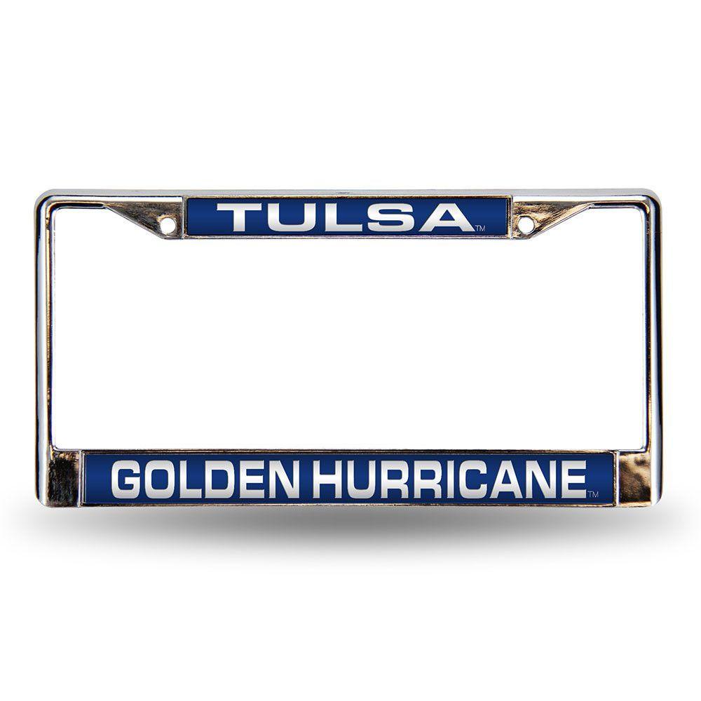 Tulsa Golden Hurricane NCAA Laser Chrome License Plate Frame ...