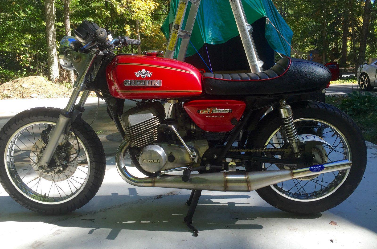 rocker.co for sale: 1976 suzuki gt500 titan cafe racer #forsale