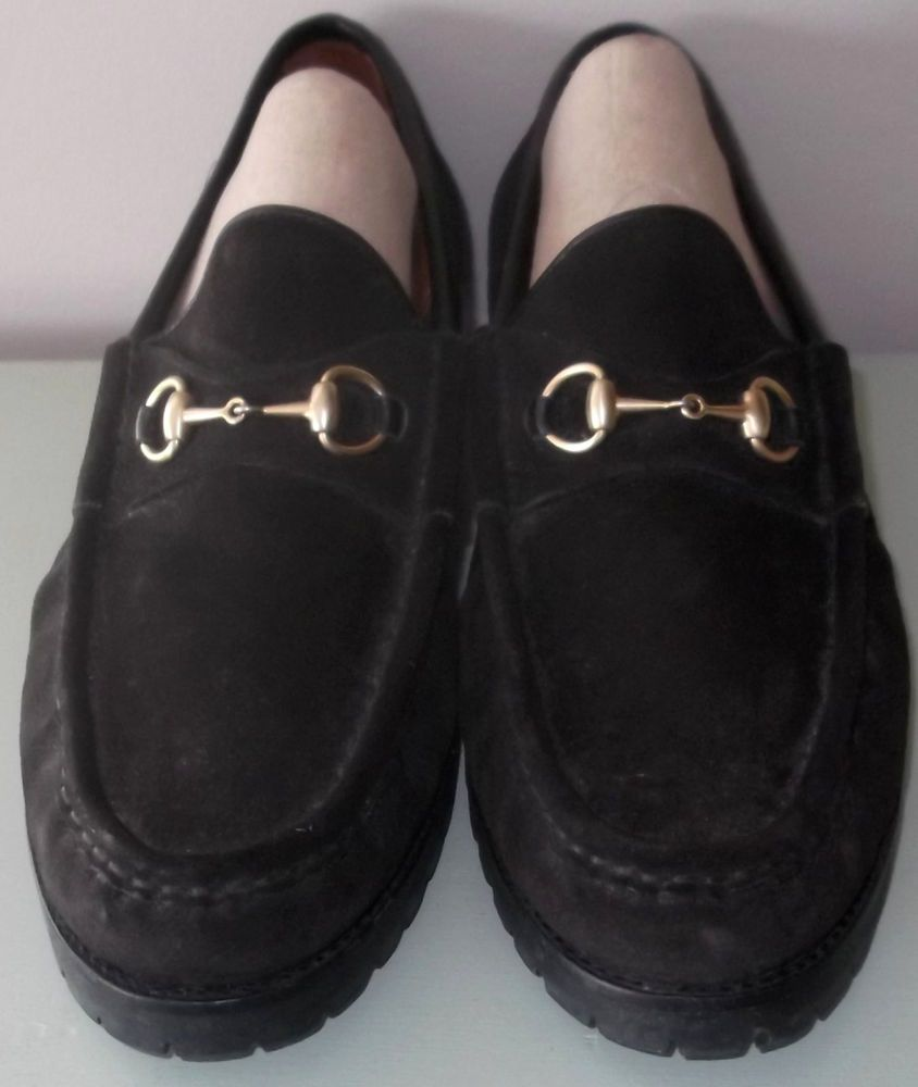 be2a368db Sold for  74.99. Authentic GUCCI Suede Horsebit Loafer