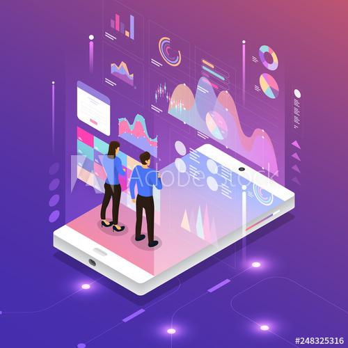 Digital Marketing Anaalysis Buy This Stock Vector And Explore Similar Vectors At Adobe Stock Adobe Stock Digital Marketing Folder Design Concept Design