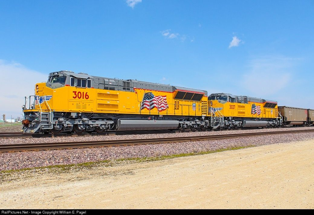 Railpictures Net Photo Up 3016 Union Pacific Emd Sd70ah T4 At Rochelle Illinois By William E Union Pacific Train Union Pacific Railroad Railroad Photography