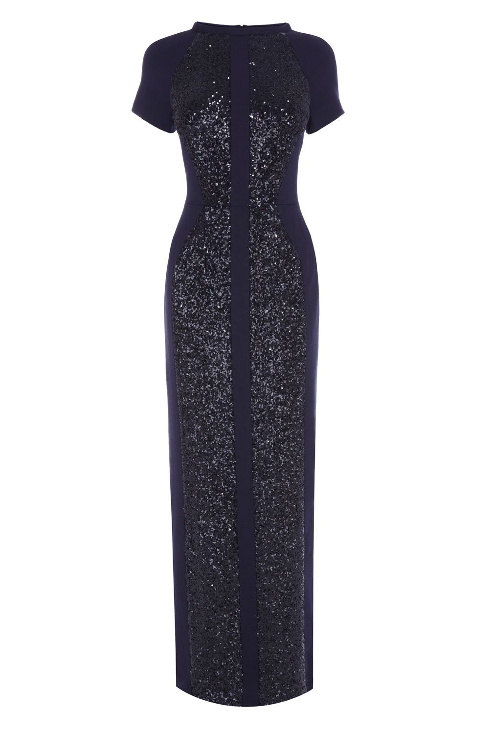 9caab94f72b1 Stand out for the evening in this short sleeved sparkling maxi dress.  Dripping in top to toe sequins The Melanie Maxi Dress features stretch mesh  inserts ...