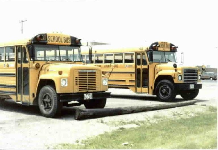 Two International Superior School Buses Old School Bus School Bus Bus City