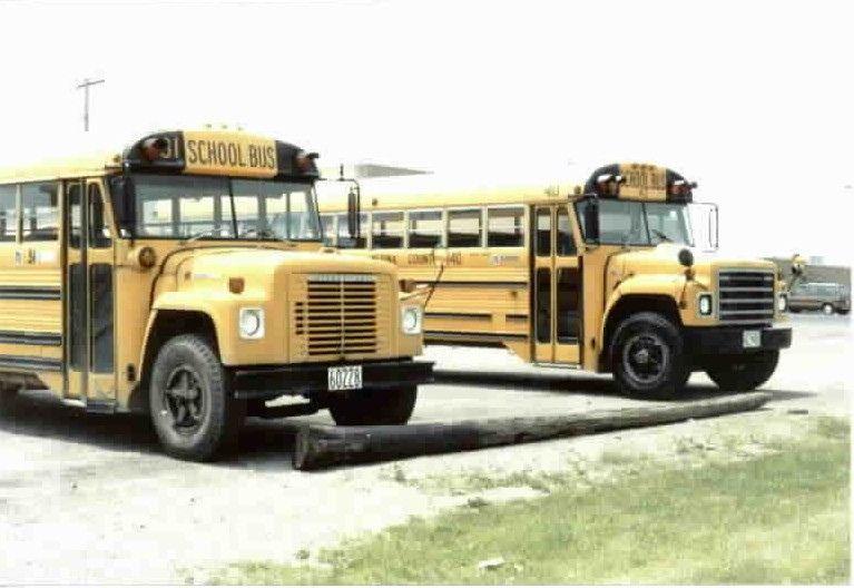 Two International Superior School Buses Old School Bus School