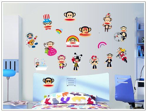 Wall Sticker Outlet  Magic Decals Paul Frank Wall Sticker Monkey DIY Wall  Decal Decor Stickers