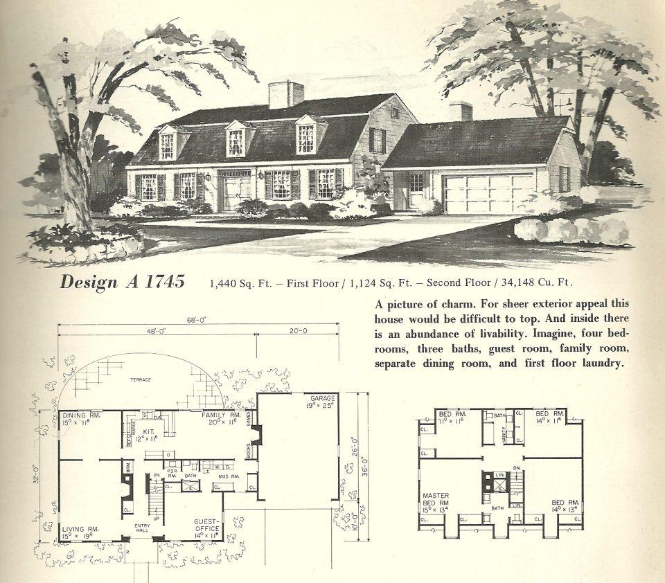 Vintage Home Plans Gambrel 1745 Vintage House Plans Gambrel Roof Vintage House