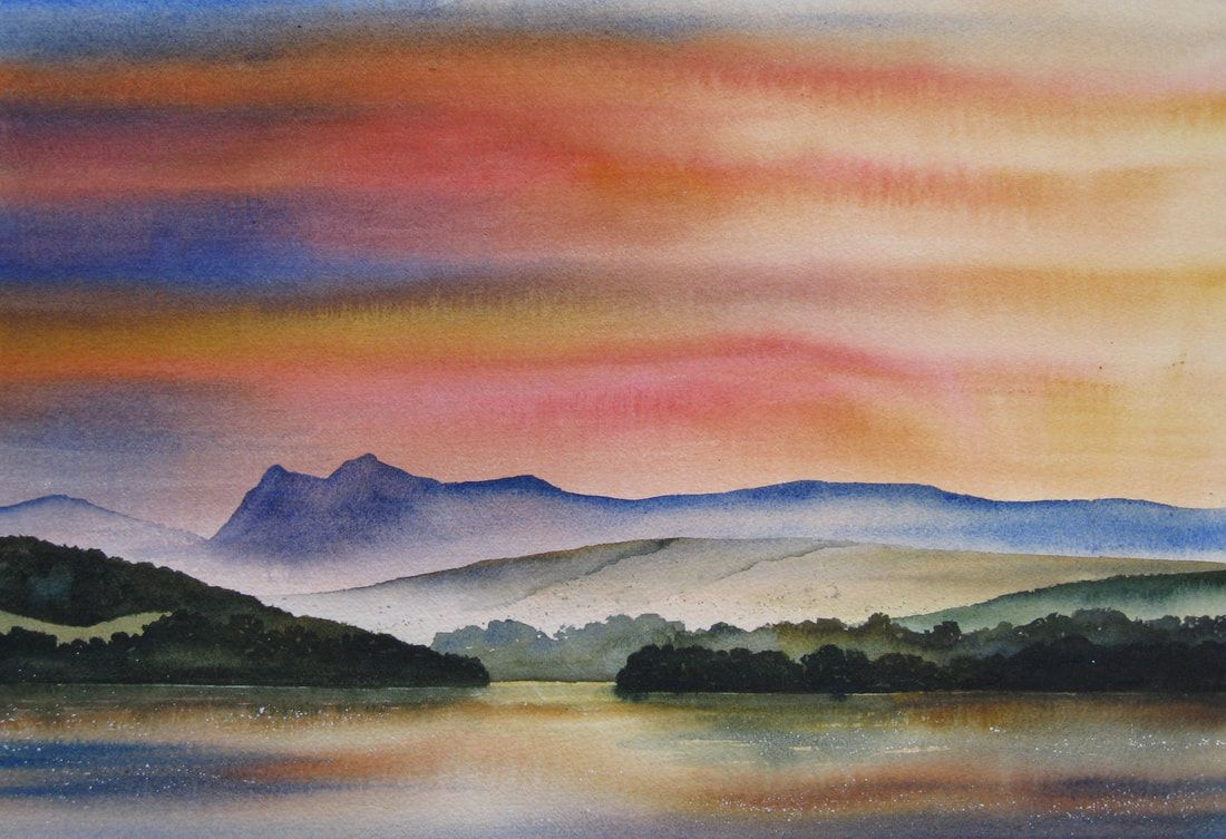Paintings Of The Lake District By Ian Scott Massie Impressionist Paintings Landscape Watercolor Landscape Paintings Landscape Paintings