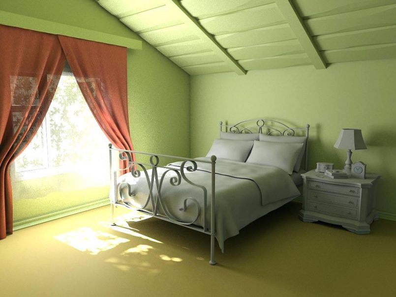 Curtain Style Olive Green Bedroom With What Color Curtains For Green Walls Decorating Decoration Attic Bedroom Small Bedroom Wall Designs Attic Bedroom Designs