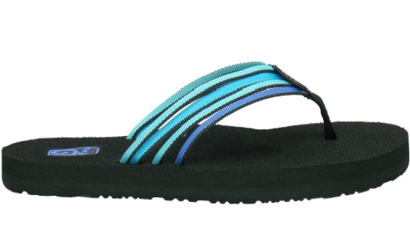 3b958f0436d8 Teva Women s Mush Adapto Electric Blue Multi Sandals Flip Flops ...
