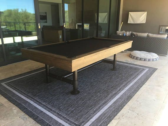 Quality High End Industrial Style Bedford Pool Table With Optional - Industrial style pool table