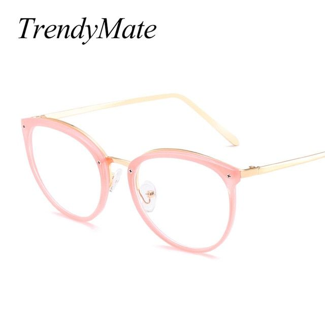 2c9a49bbeaf0 TrendyMate Women's Floral Glasses Optical Frame Eyeglasses Pink Prescription  Eyewear Clear Oculos de Grau High Quality 1306T Review