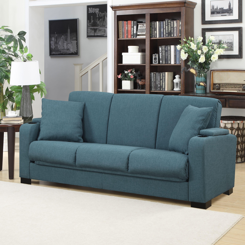 Portfolio Storage Arm Convert A Couch Linen Futon Sleeper Sofa