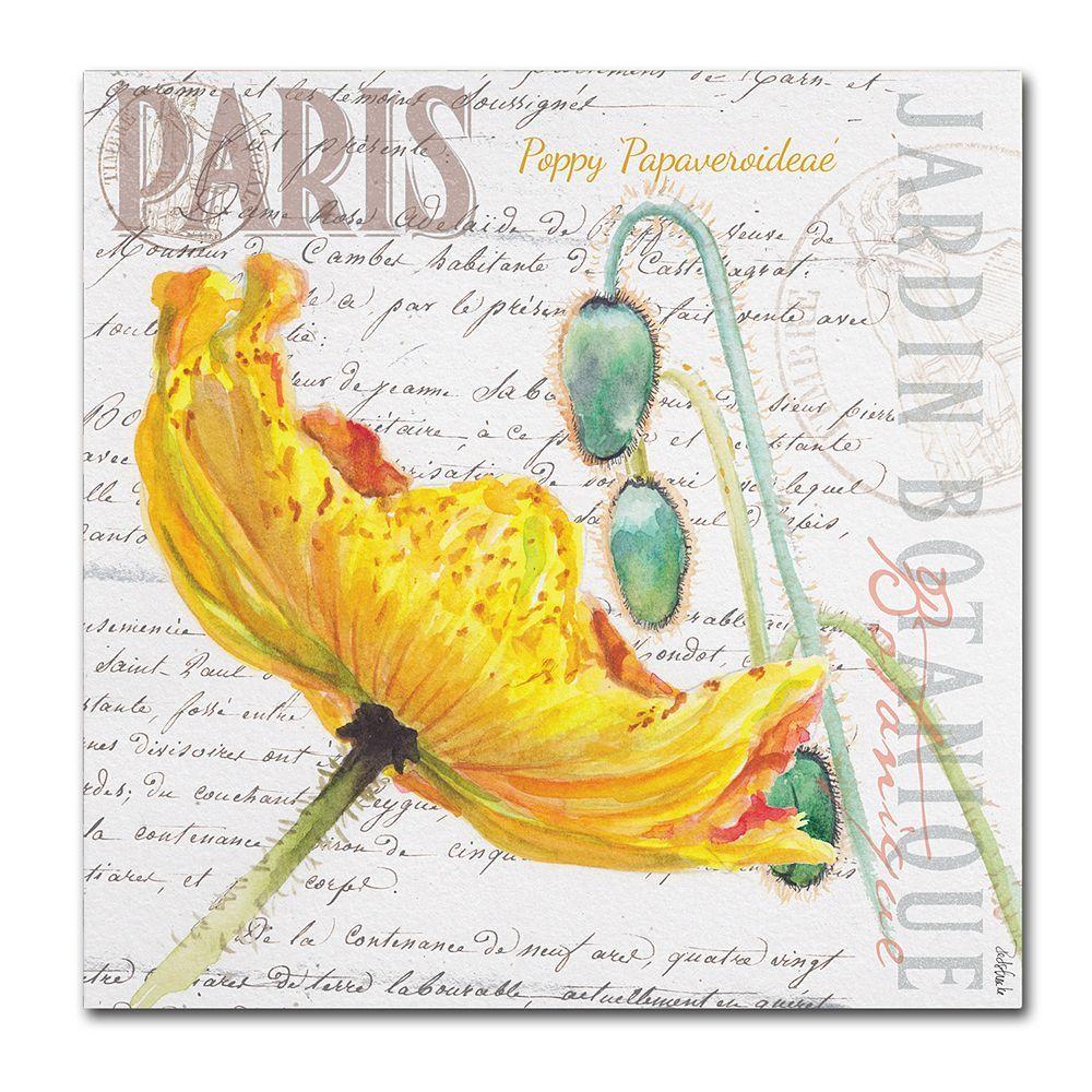 Trademark Fine Art Paris Botanique Yellow Poppy Canvas Wall Art ...