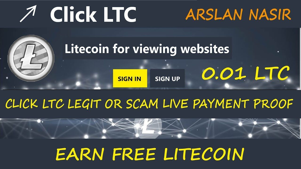 Click LTC New Free Litecoin Earning Site Legit Or Scam Live