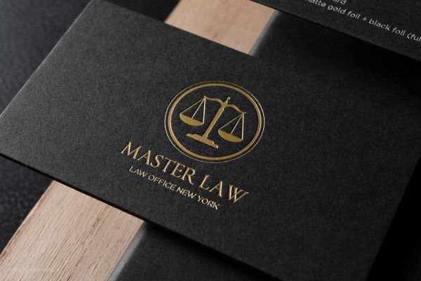 Classic modern black duplex attorney business card template classic modern black duplex attorney business card template master law reheart Image collections