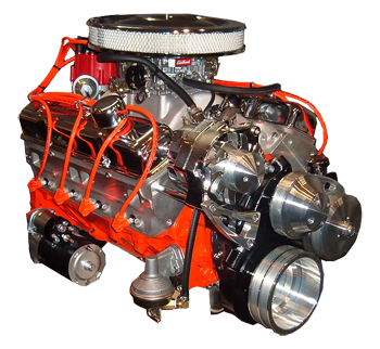 350 Chevy Hot Rod Engines With 375HP. Fits under stock