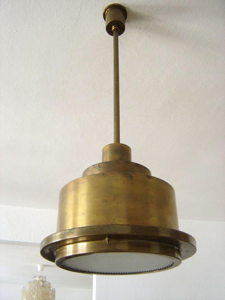Rare Modernist Bauhaus Artdeco Pendant Lamp Ceiling Light Dell Kaiser Kandem Era Lampen Bauhaus Art Deco