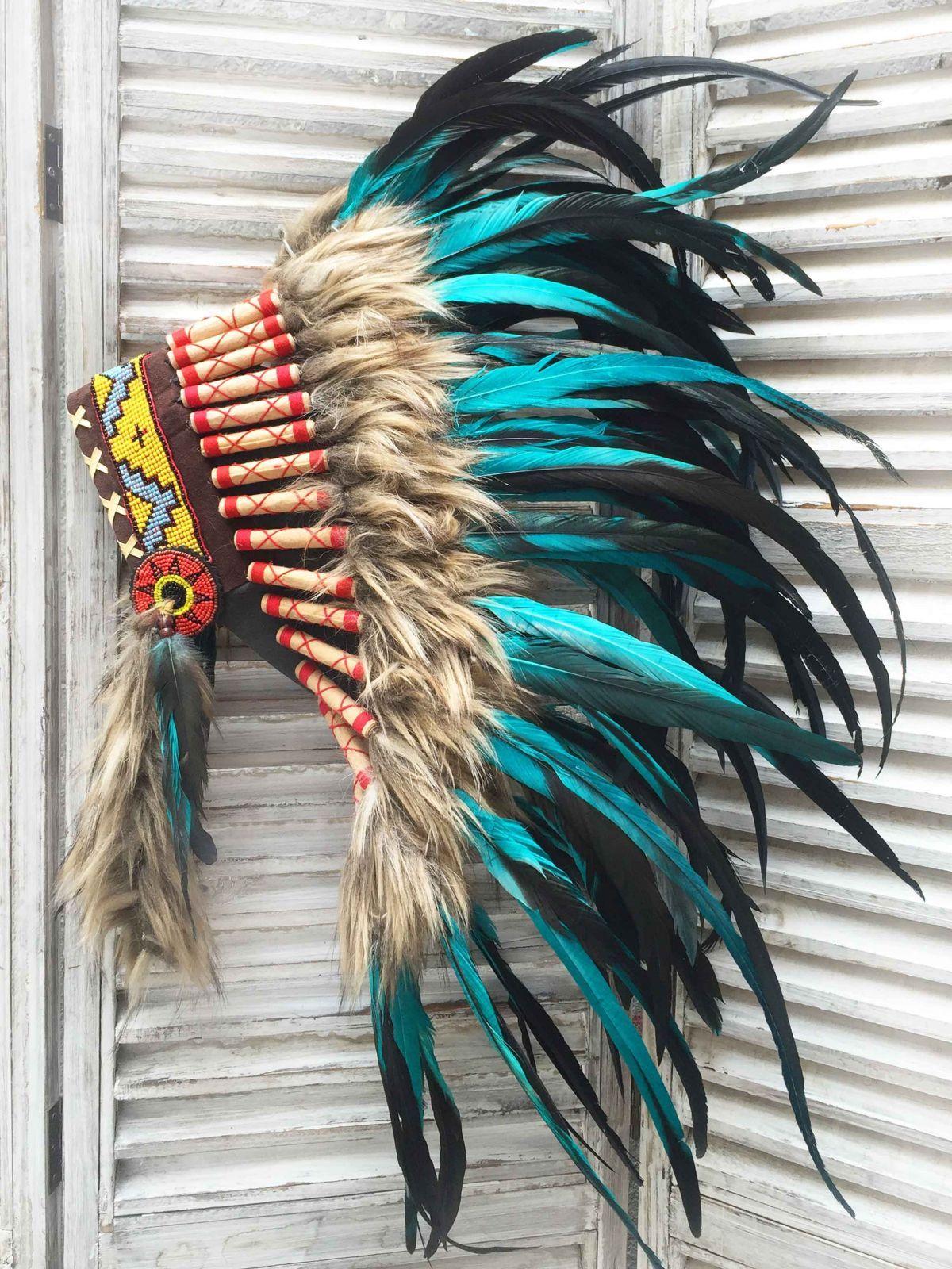 Penacho indio turquesa 0 disfraces pinterest