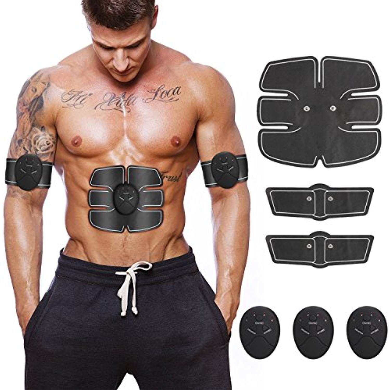 6 Pack Gym EMS Trainer Abdominal Toning Muscle Toner Abs Smart EMS Fitness Belt