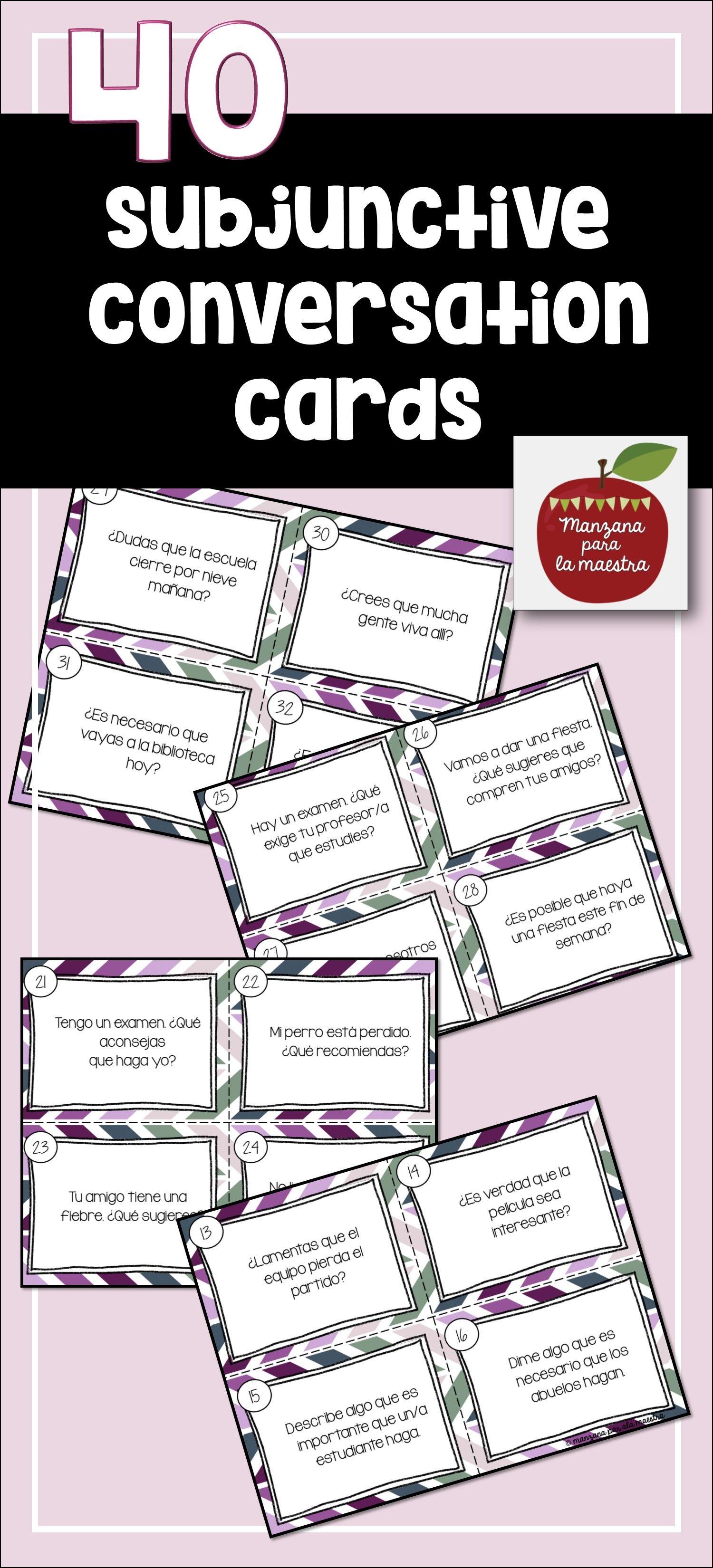 Spanish Subjunctive Conversation Task Cards
