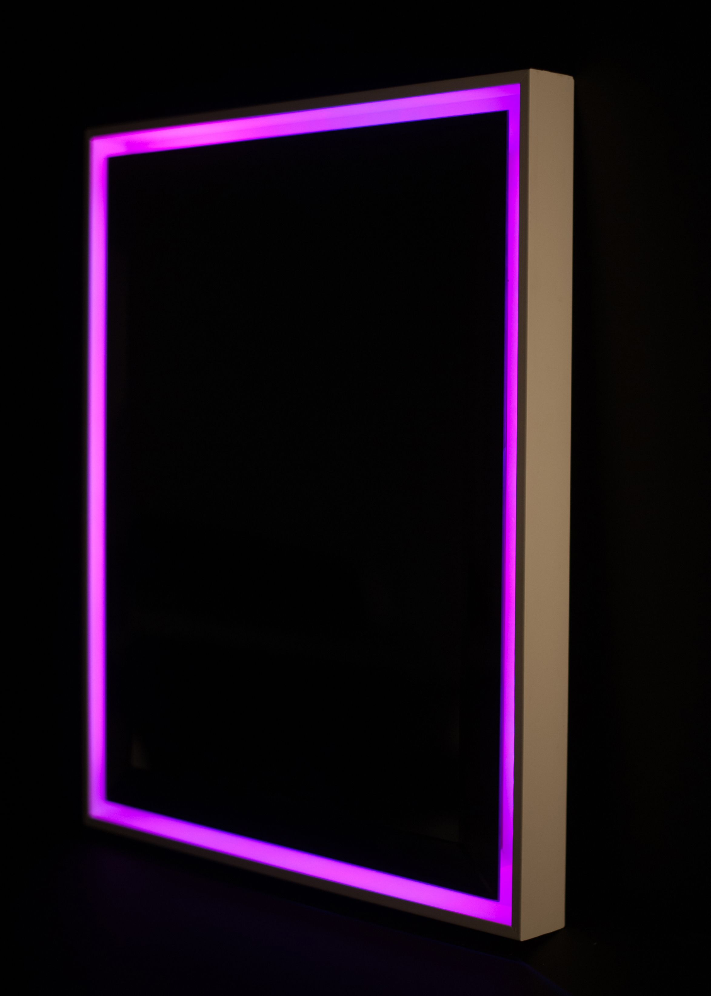 Color changing led back lit mirror in floating frame framing color changing led back lit mirror in floating frame jeuxipadfo Images