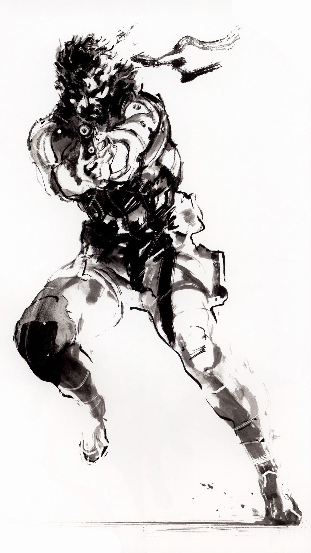 Is there any known official art of Old Snake and Venom