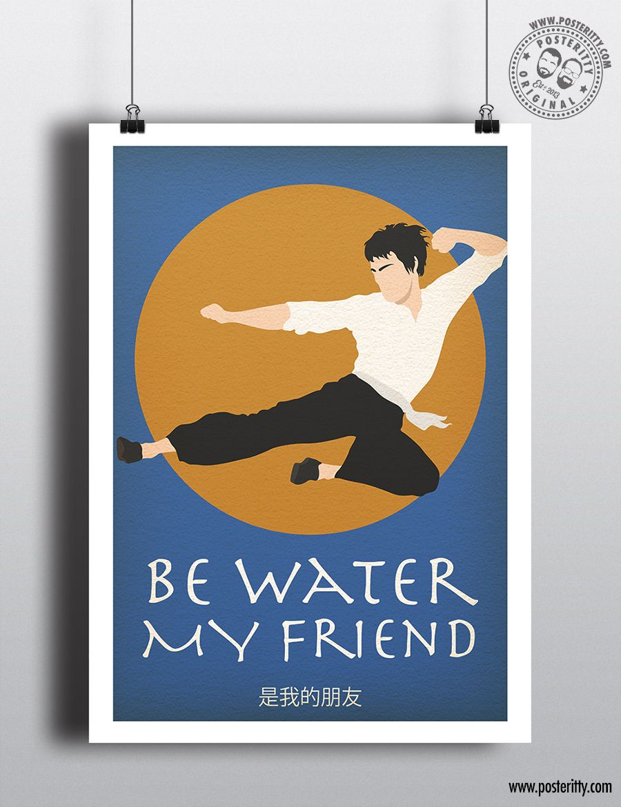 Bruce Lee Be Water My Friend Minimal Quote Poster In 2020 Quote Posters Minimal Quotes Minimalist Poster