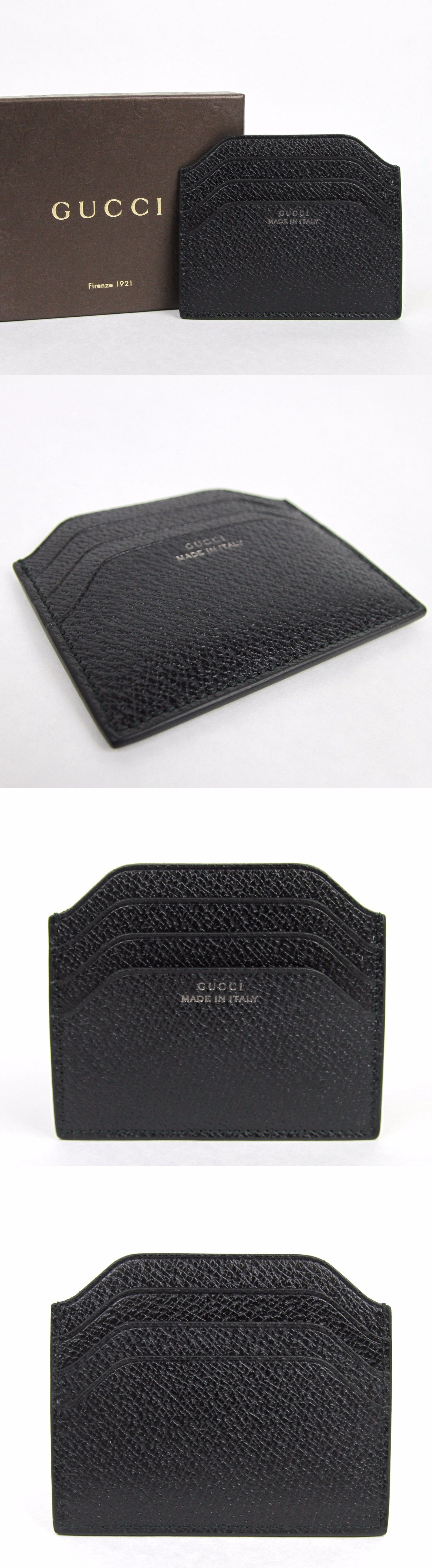 Business and credit card cases 105860 new gucci men s black business and credit card cases 105860 new gucci men s black trademark leather card holder colourmoves