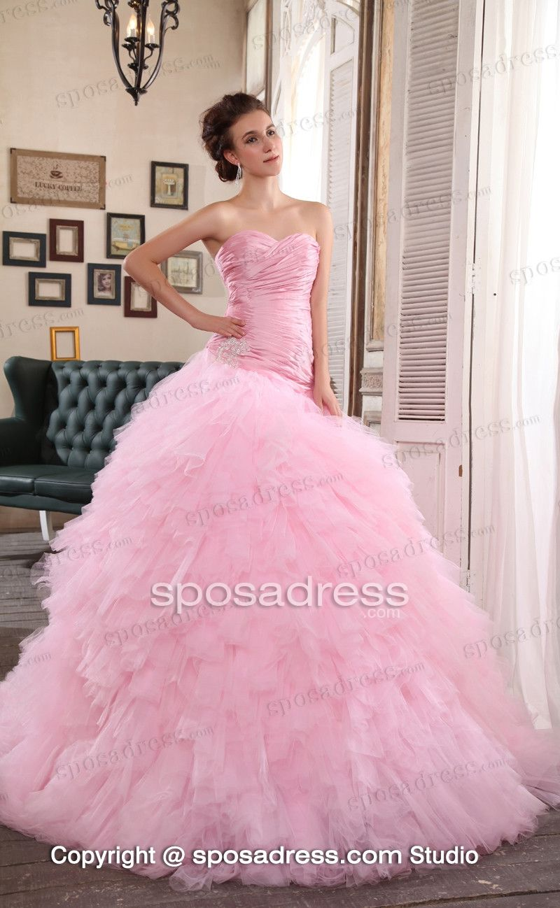 Pink Mermaid Sweetheart Ruched Amazing Expensive Wedding Gown | R ...
