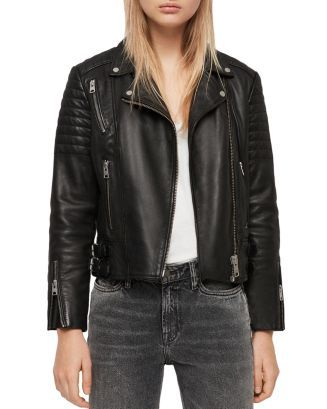 affd41c6 AllSaints Papin Leather Biker Jacket in 2019 | 2019 | Clothing ...