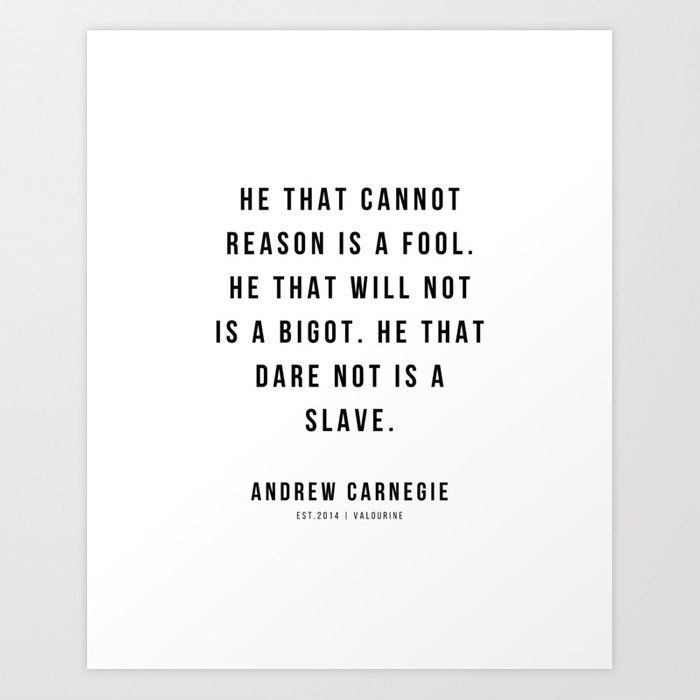 10 |Andrew Carnegie Quotes | 21010 | Motivational Inspirational Success Quote Personal Development Business Coach Art Print by Wordz