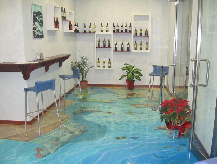 3d Fußboden Bad ~ Pisos d levam o teu banheiro no meio do oceano