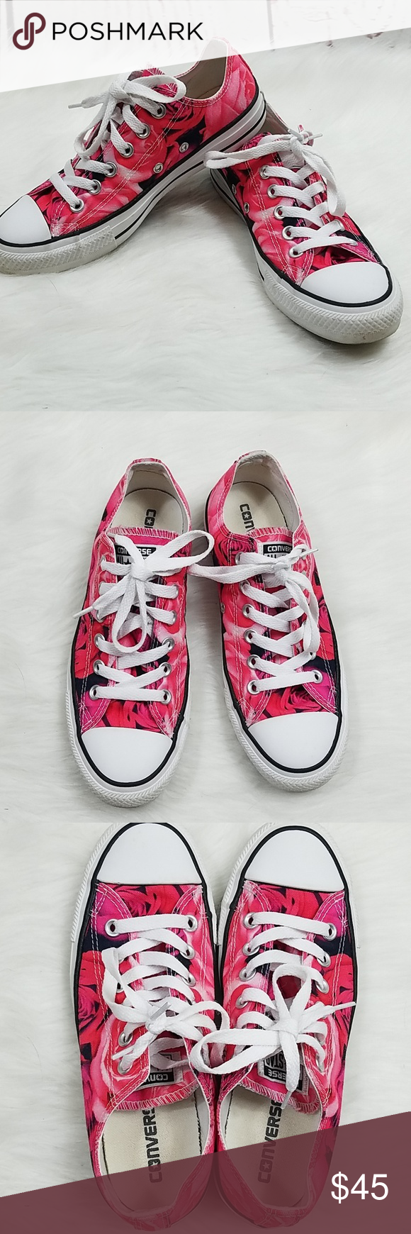 d5f7983d0f2 Converse Rose Pattern size 7 Like new. Rose pattern. Converse Shoes