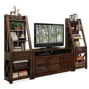 Riverside Furniture Windridge Entertainment Wall Unit 76540 2x48 Tv Console Furniture