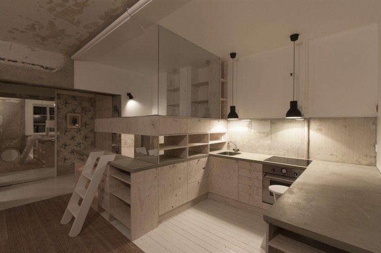 Der Innenraum verfügt über eine Küche \/ Bett \/ Schrank Zone von - moderne esszimmer ideen designhausern