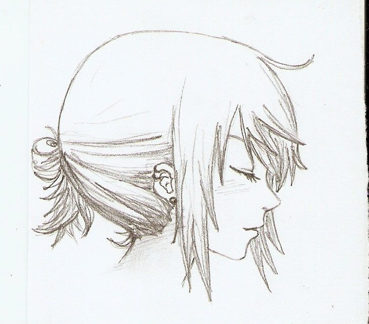 Side View By Yuki Anna On Deviantart Anime Closed Eyes Anime Eyes Anime Side View