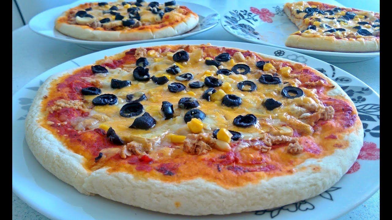 بيتزا بالطون أو التونة لذيذة جدا مثل المطاعم Food Pepperoni Pizza Hawaiian Pizza