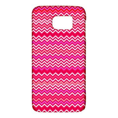 Valentine+Pink+and+Red+Wavy+Chevron+ZigZag+Pattern+Galaxy+S6+Samsung+Galaxy+S6+Hardshell+Case+