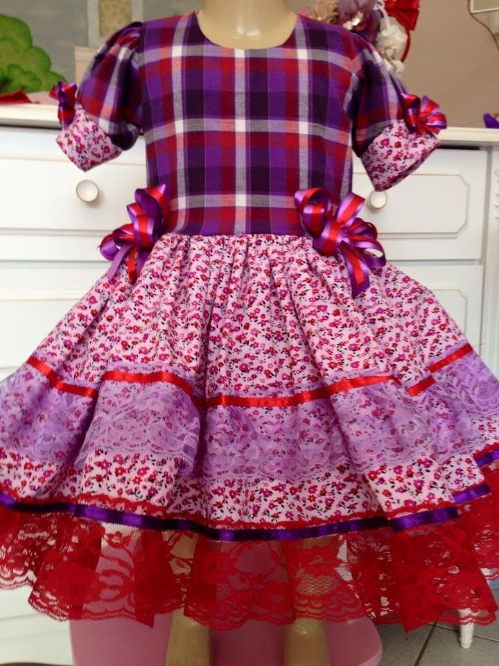 41dbe0649b114 vestido caipira infantil com avental - Pesquisa Google Roupas Juninas  Infantil