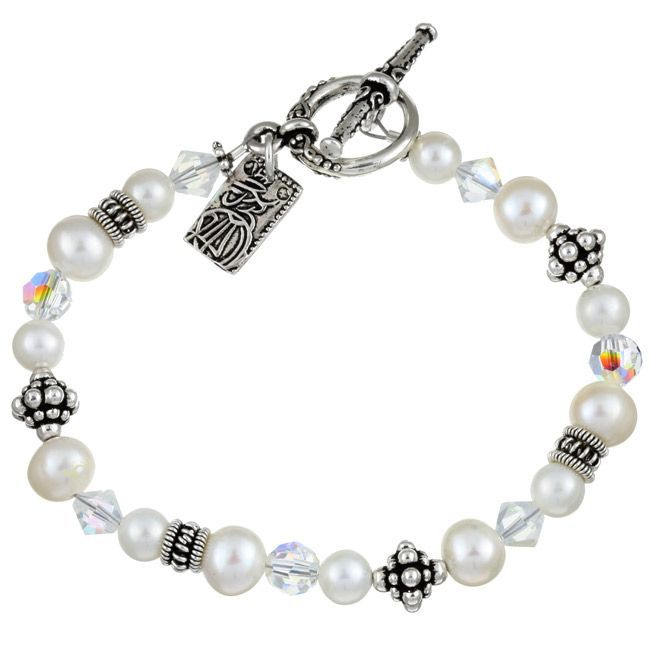 Charming Life FW Pearl/ Crystal Asian Charm Bracelet