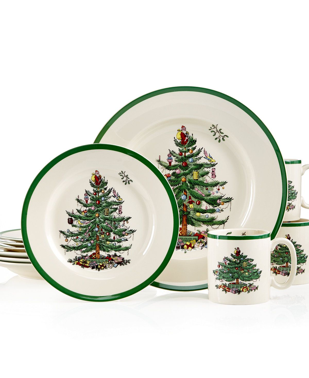 Spode Christmas Tree 12-Pc. Dinnerware Set, Service for 4 - Fine ...