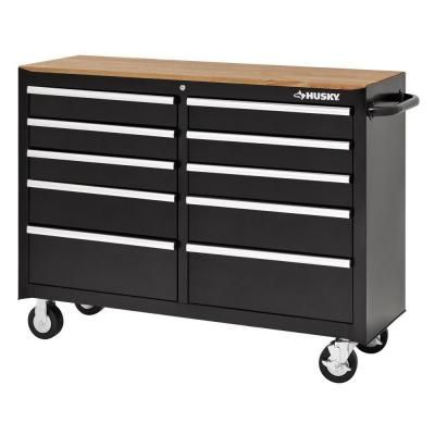 Husky 52 In 10 Drawer Solid Front Mobile Tool Chest