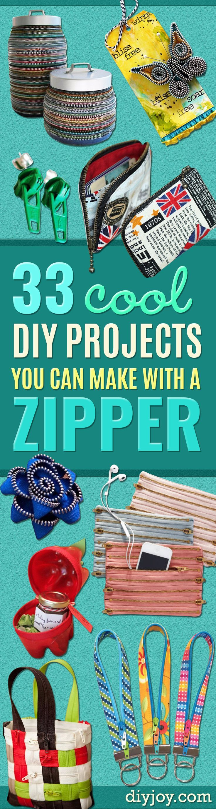 Cool DIY Projects You Can Make With A Zipper Creative School - Best weekend diy projects ideas