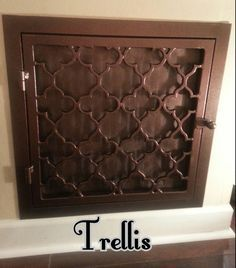 Attractive Way To Cover Your Attic Fan When Not In Use Google Search Decorative Vent Cover Wrought Iron Wrought