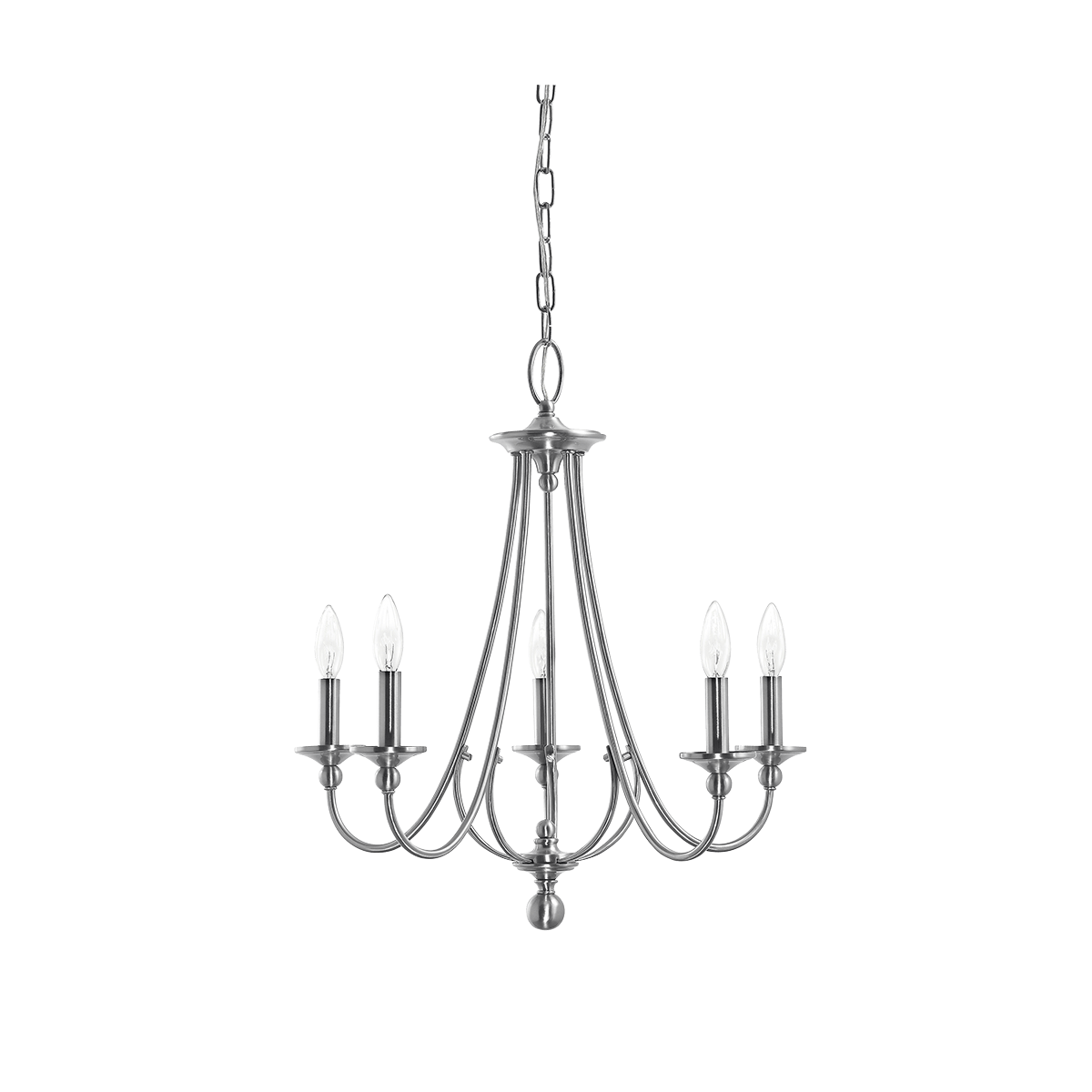 Camella 5 light chandelier in brushed nickel mommys church camella 5 light chandelier in brushed nickel arubaitofo Gallery