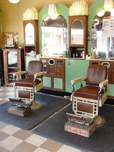 Antique... cozy... old-fashion... The Corner Barber Shop in Chicago ...