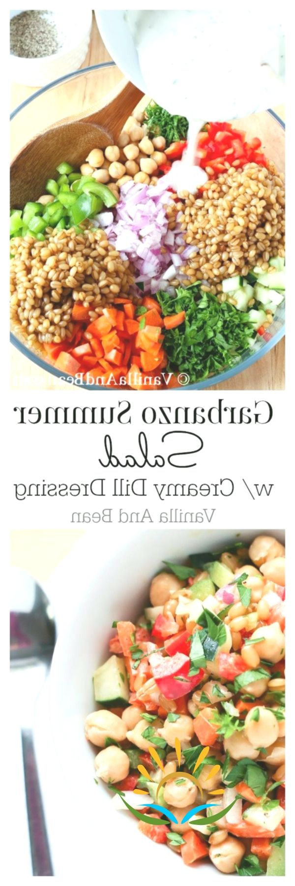 Garbanzo (Chickpea) Summer Salad with Creamy Dill Dressing | Vanilla And ...