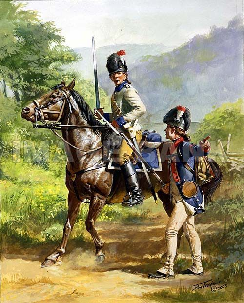 American 2nd Lt Dragoons 1782.